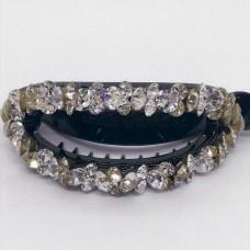 Swarovski hair clip silver gold