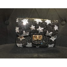 Sequin Sling Bag (Black & White)