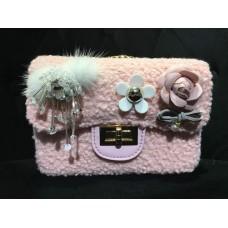 Tweed Sling Bag (Light Pink)