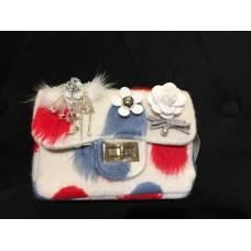 Velvet Sling Bag (White)