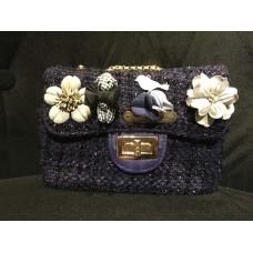Tweed Sling Bag (Blue)